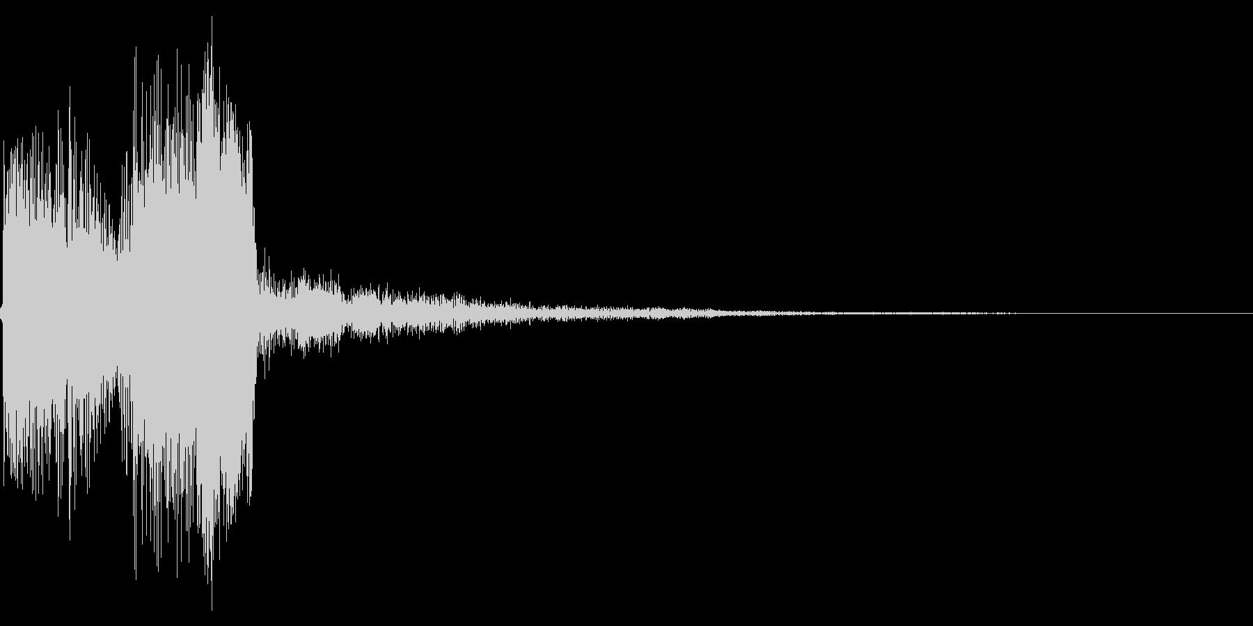 ポップアップ 決定音系 丸めの音 002の未再生の波形