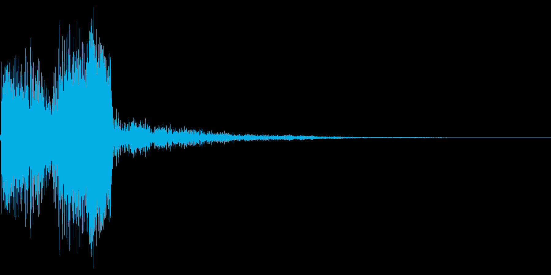 ポップアップ 決定音系 丸めの音 002の再生済みの波形