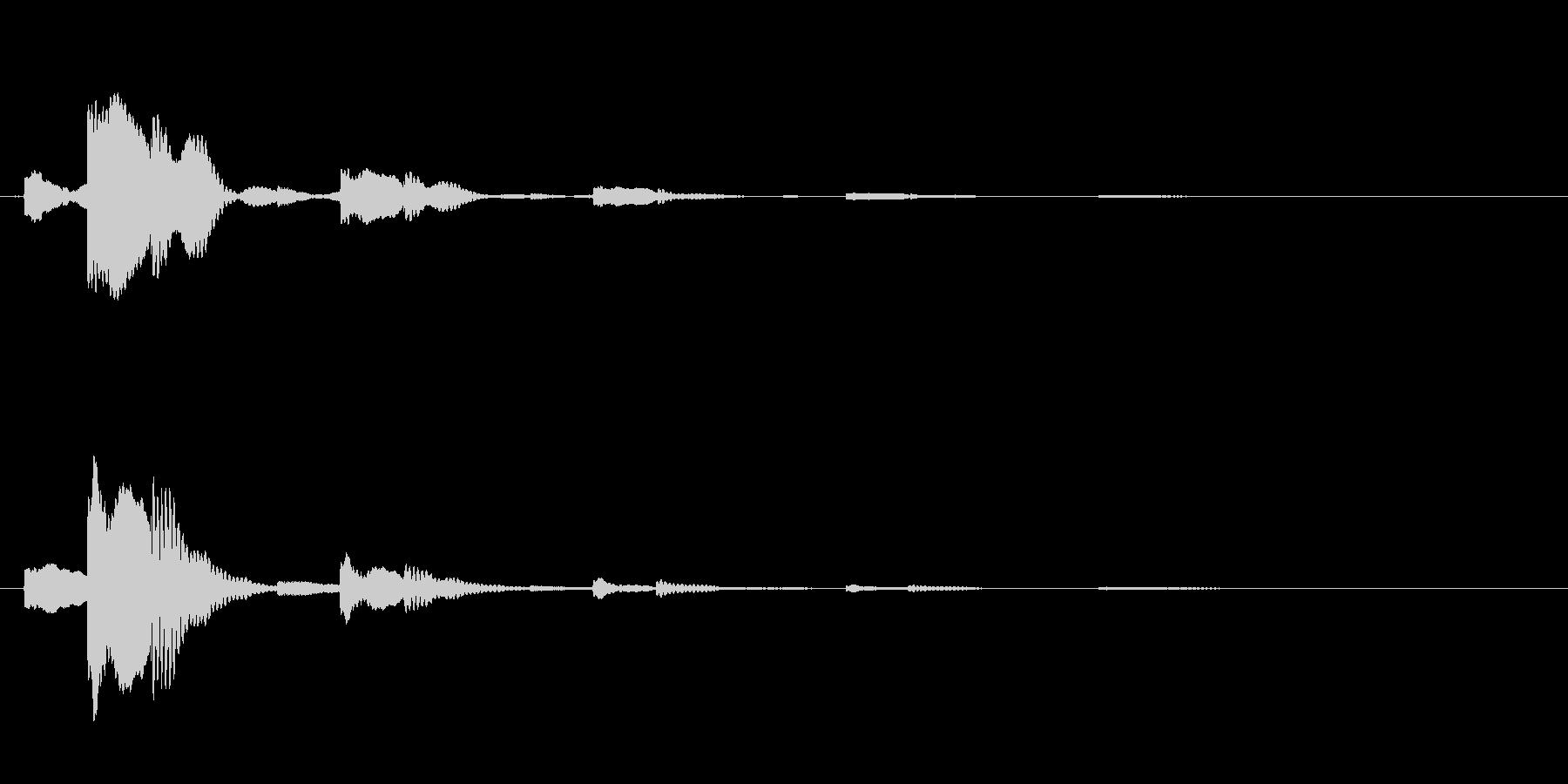 チャララッ↑(回復音、アイテム使用時)の未再生の波形