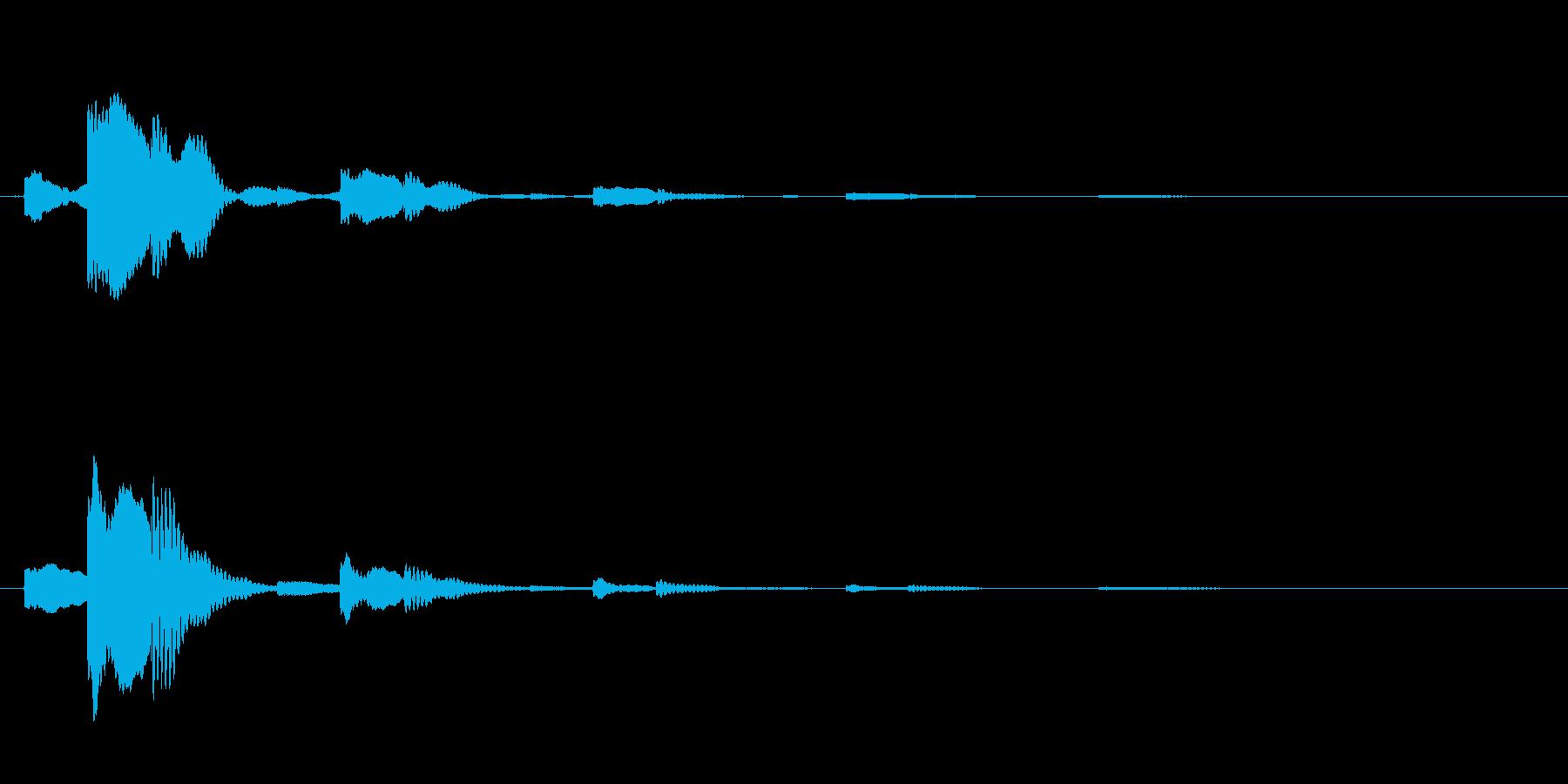 チャララッ↑(回復音、アイテム使用時)の再生済みの波形