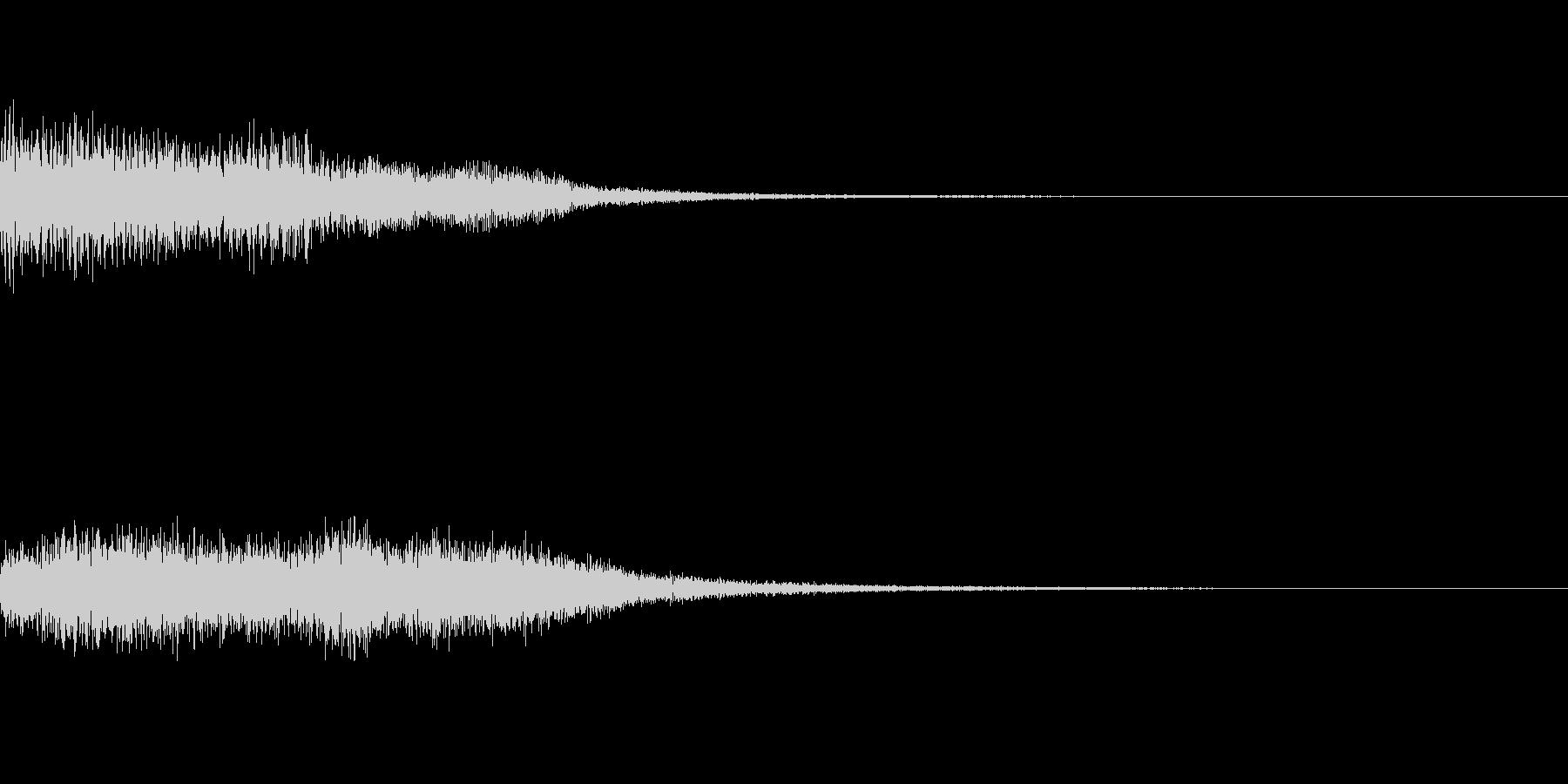 キュオーン~ロボットの初動操作音・低音~の未再生の波形