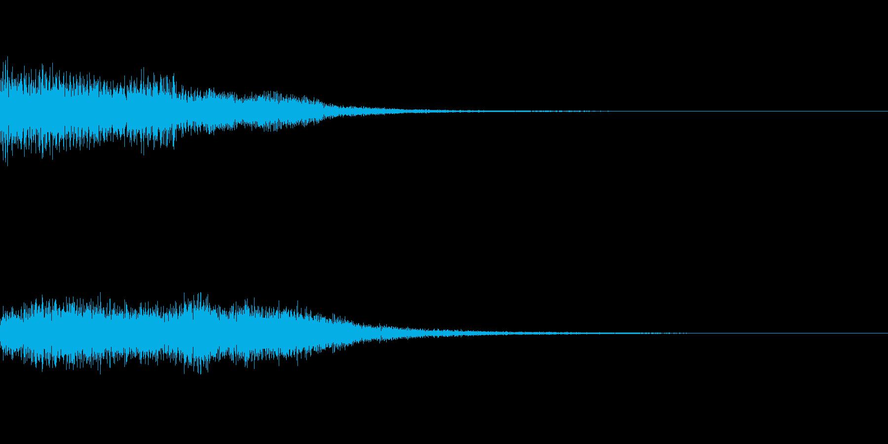キュオーン~ロボットの初動操作音・低音~の再生済みの波形
