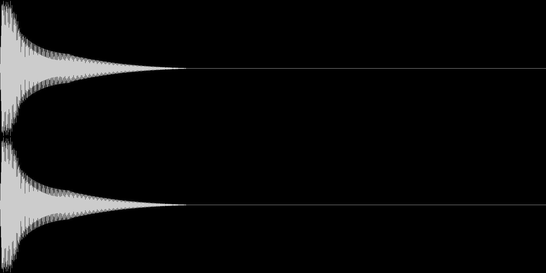 PureTouch アプリ用タッチ音 5の未再生の波形