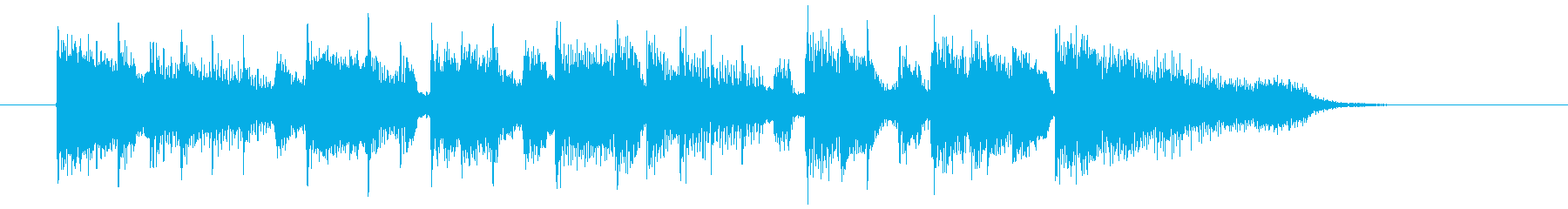 ゆったりリゾート感シンセギターサウンドの再生済みの波形