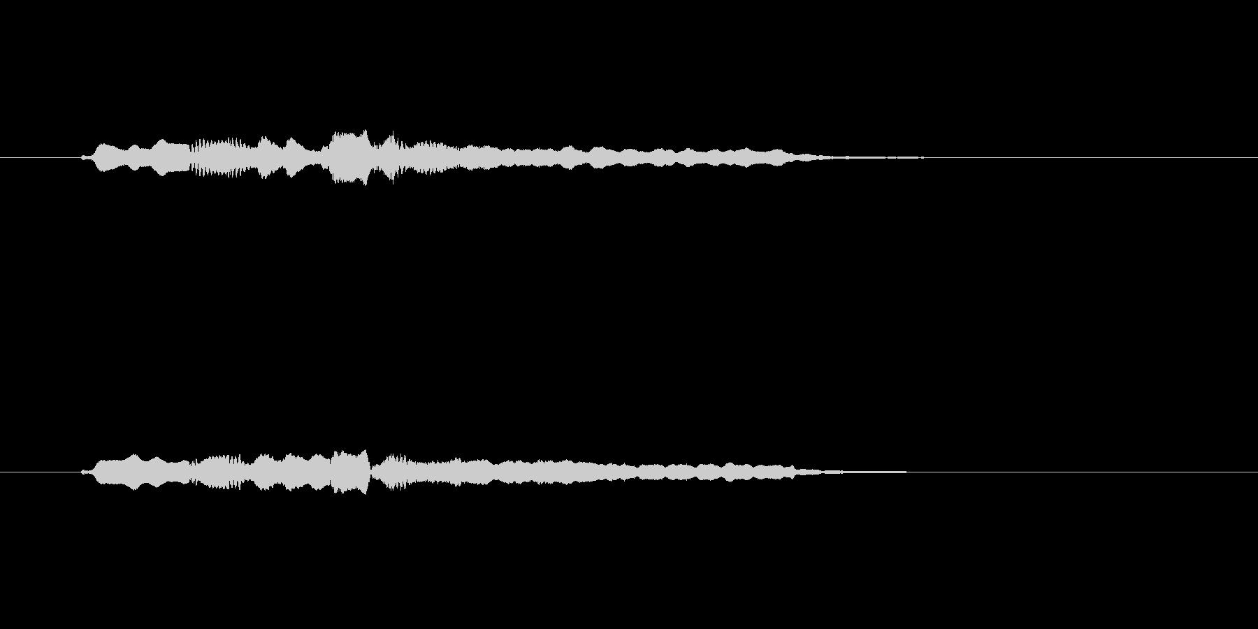 フルートの不穏なメロディーの未再生の波形