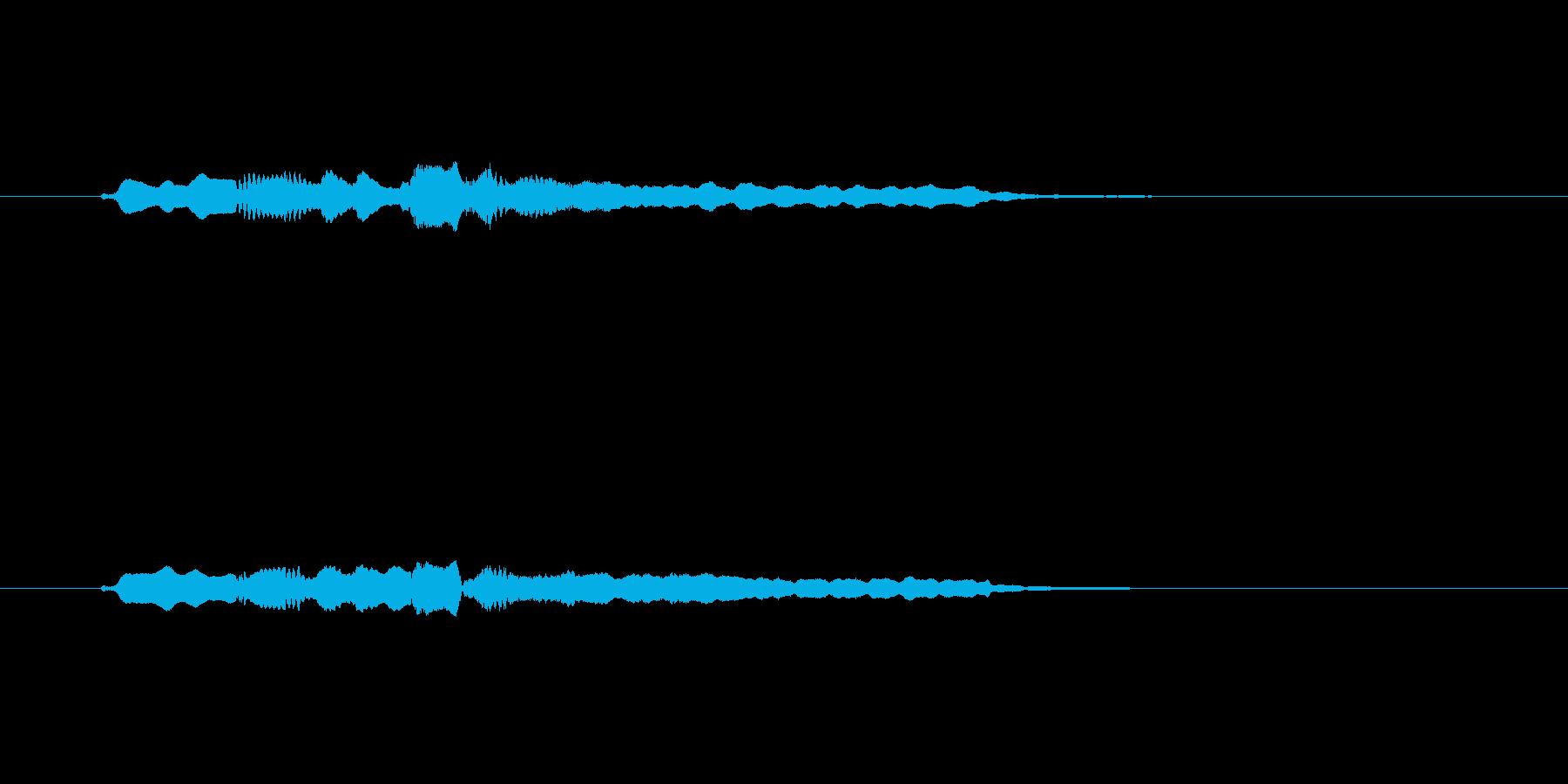 フルートの不穏なメロディーの再生済みの波形