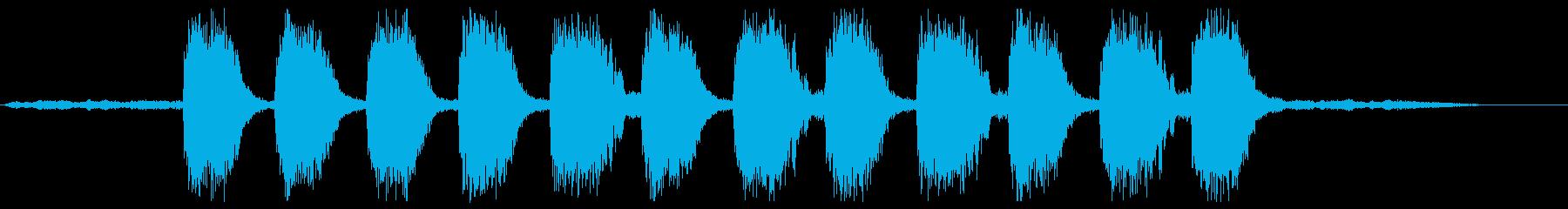 深海もしくは宇宙または恐怖の再生済みの波形