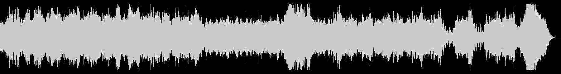 ホラー系 ダークなオーケストラBGMの未再生の波形