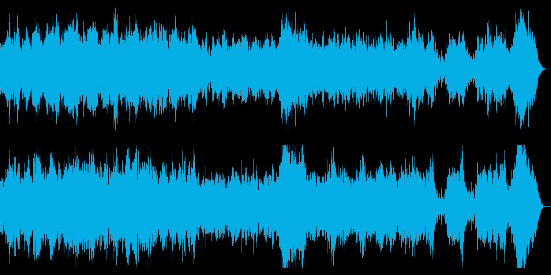 ホラー系 ダークなオーケストラBGMの再生済みの波形