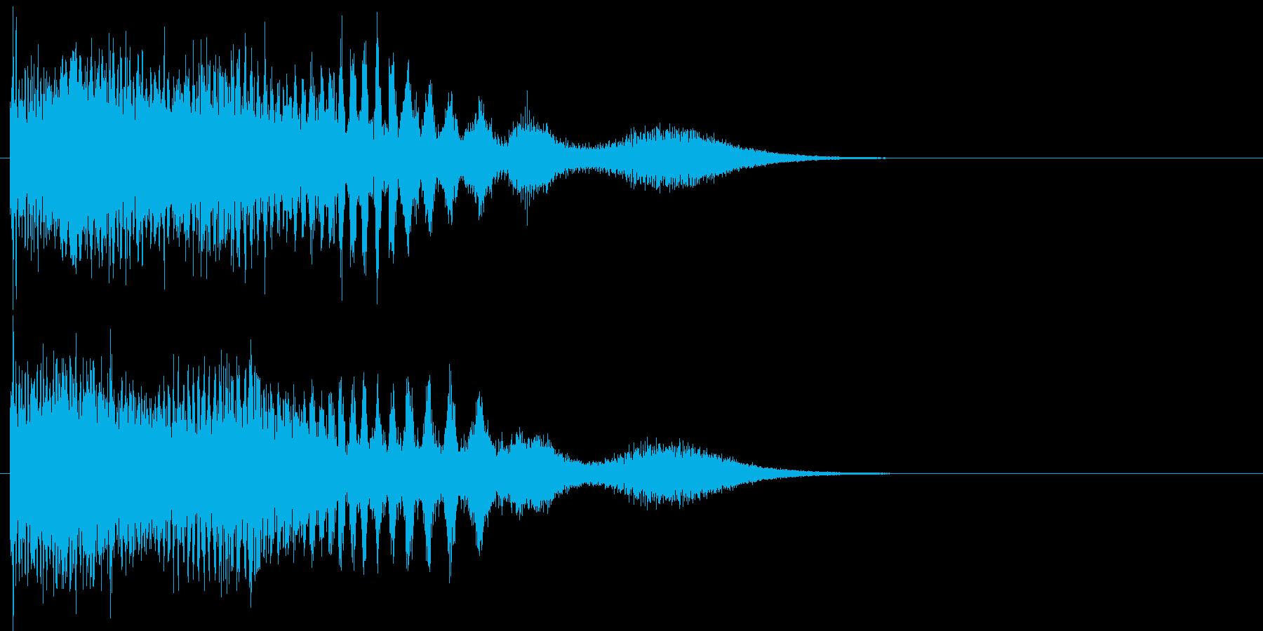機械的な下降音の再生済みの波形