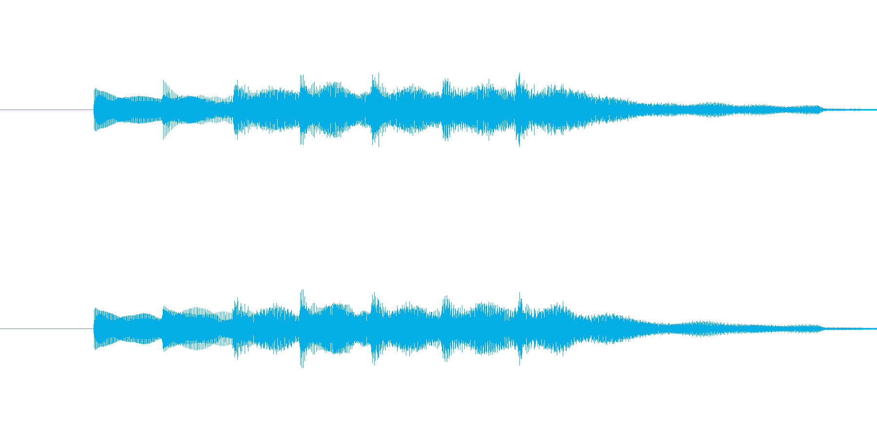 ・単音でシンプルなサウンドロゴです。・…の再生済みの波形