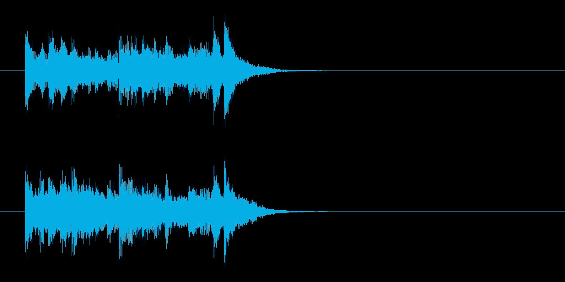 ジングル(爽やかコーナー・アタック風)の再生済みの波形