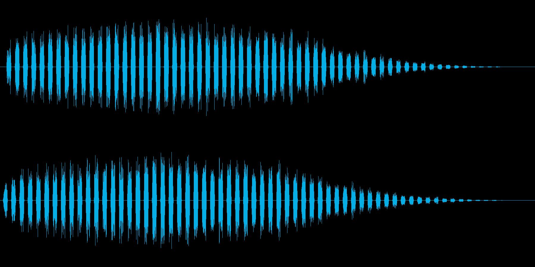 パラララン(高音で細かく刻む効果音)の再生済みの波形