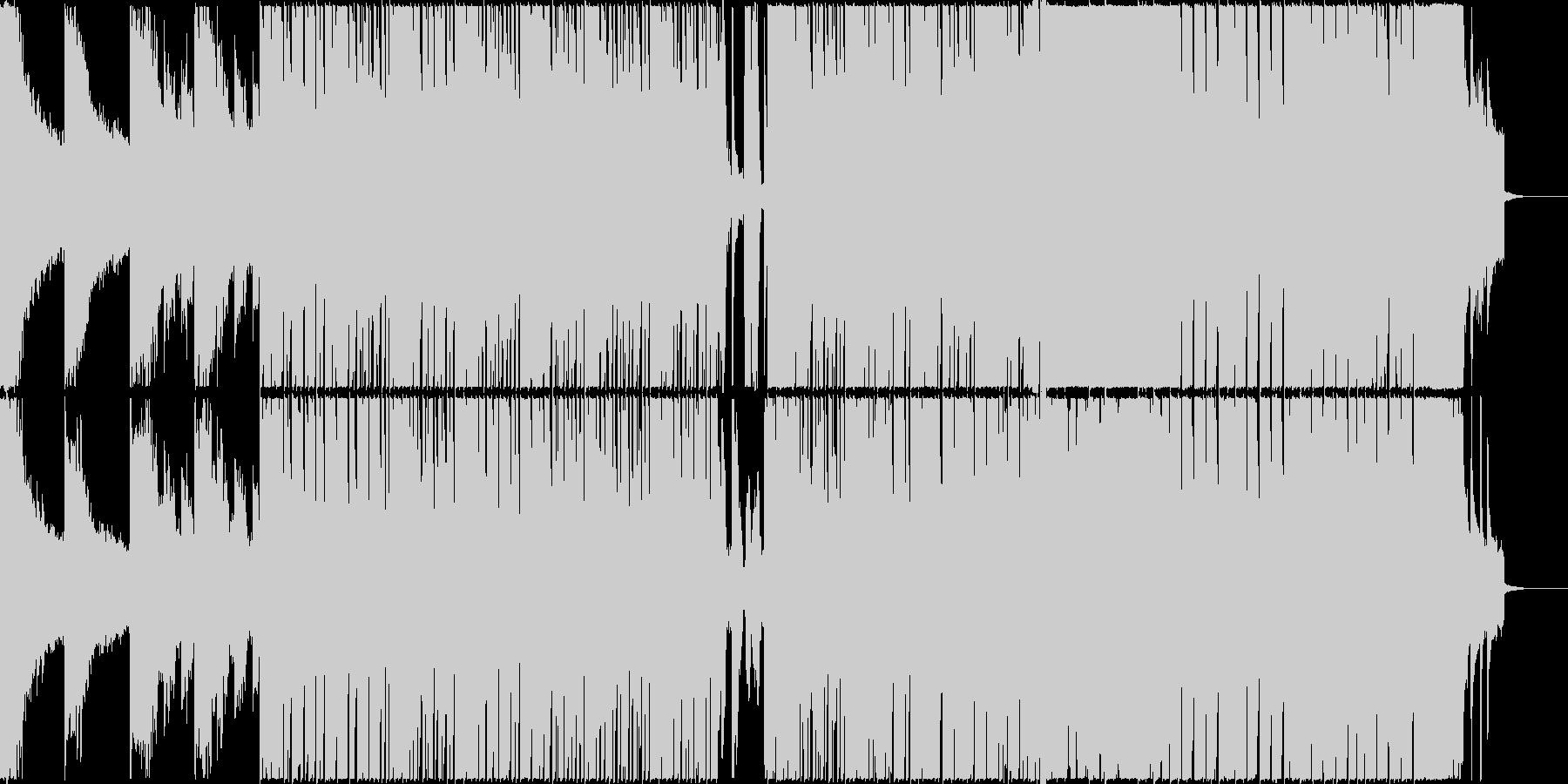 ピアノが印象的なエレクトロ音楽の未再生の波形