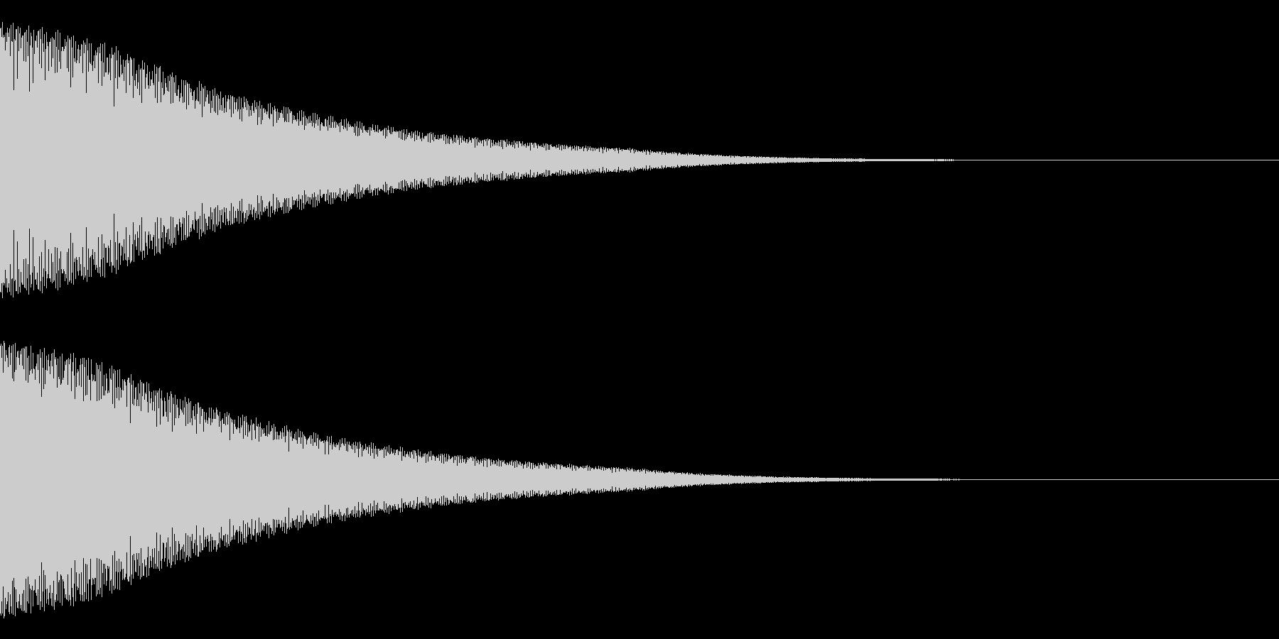 ティーーーン(ベル)の未再生の波形