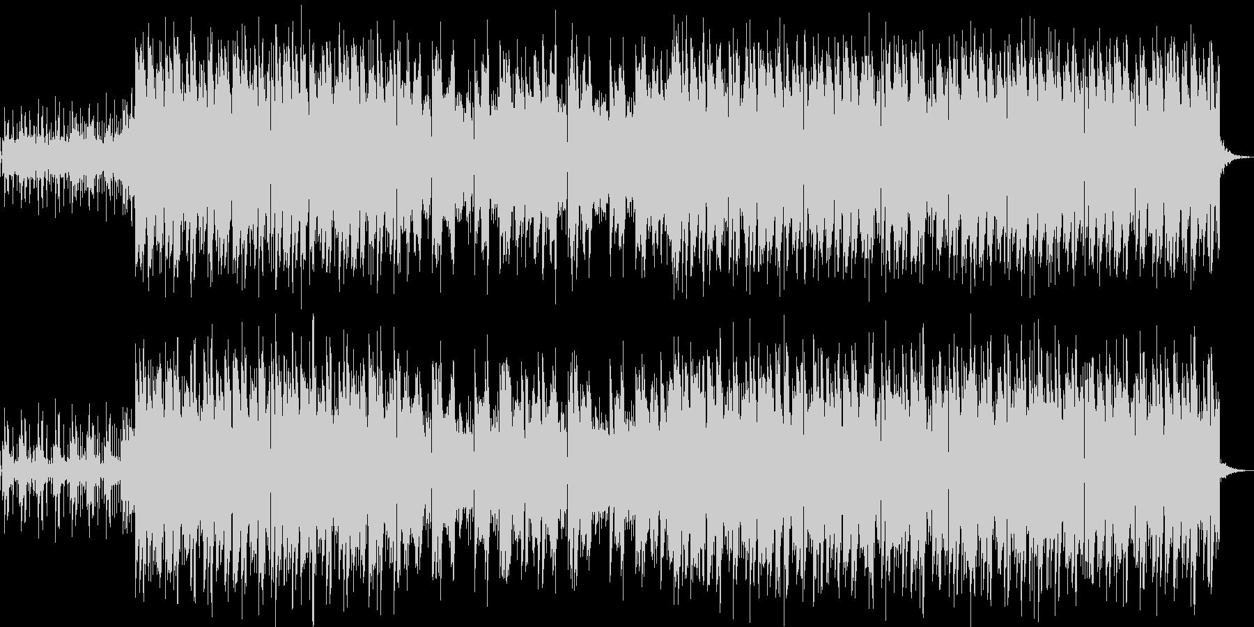 ナチュラルで幻想的、EDM風ポップスの未再生の波形