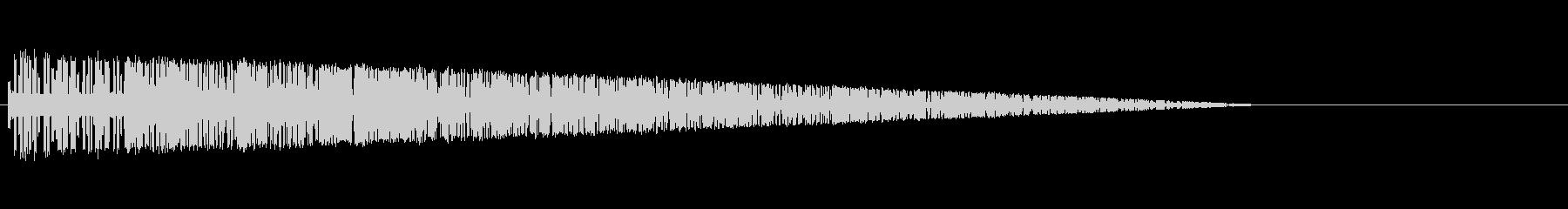 レトロゲーム風爆発音7の未再生の波形