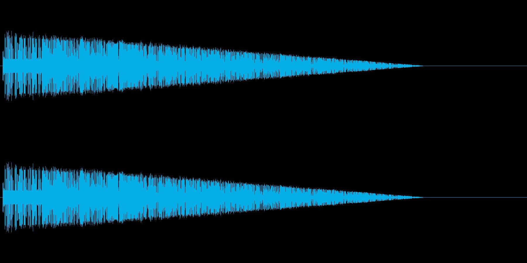 レトロゲーム風爆発音7の再生済みの波形
