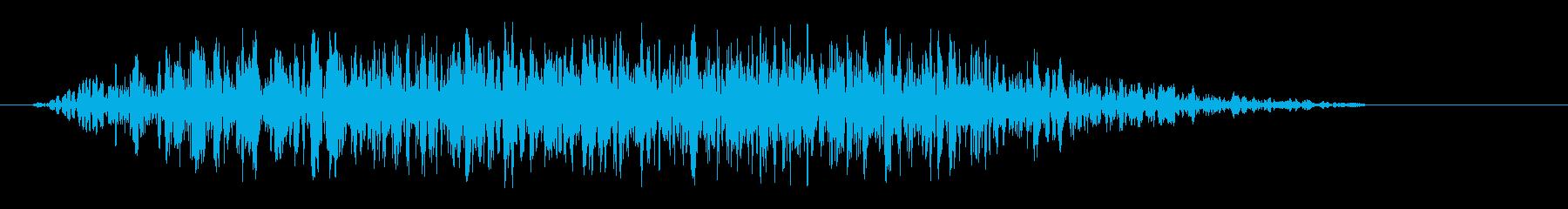 カセットテープが詰まる音の再生済みの波形