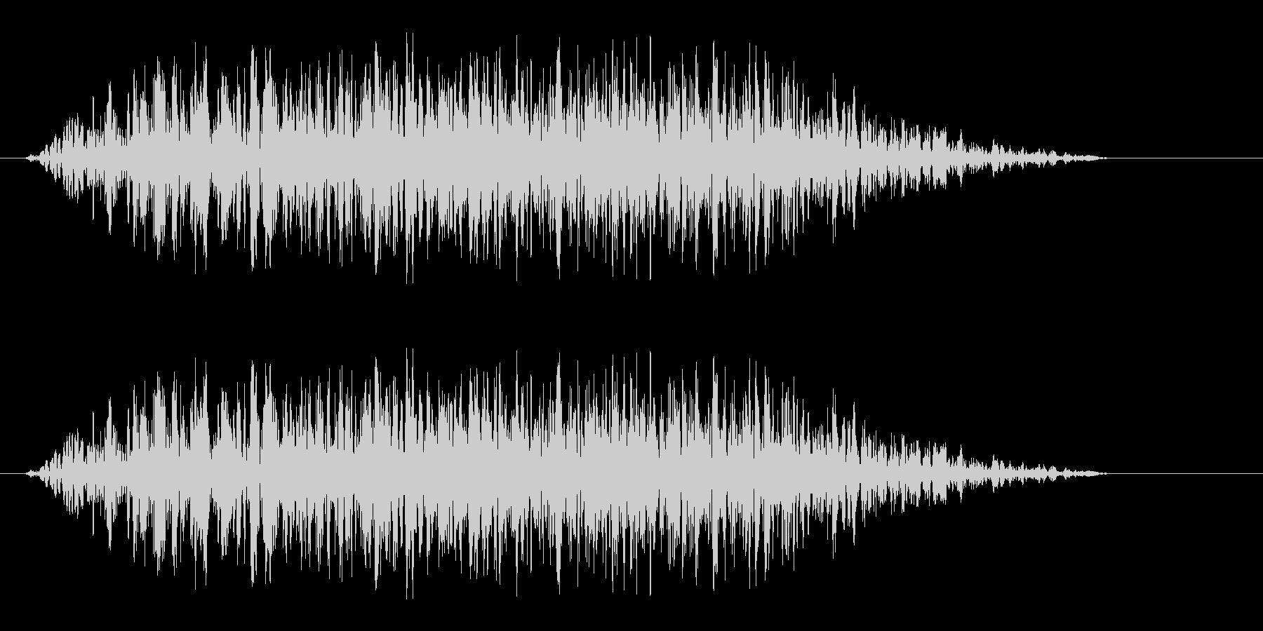 カセットテープが詰まる音の未再生の波形