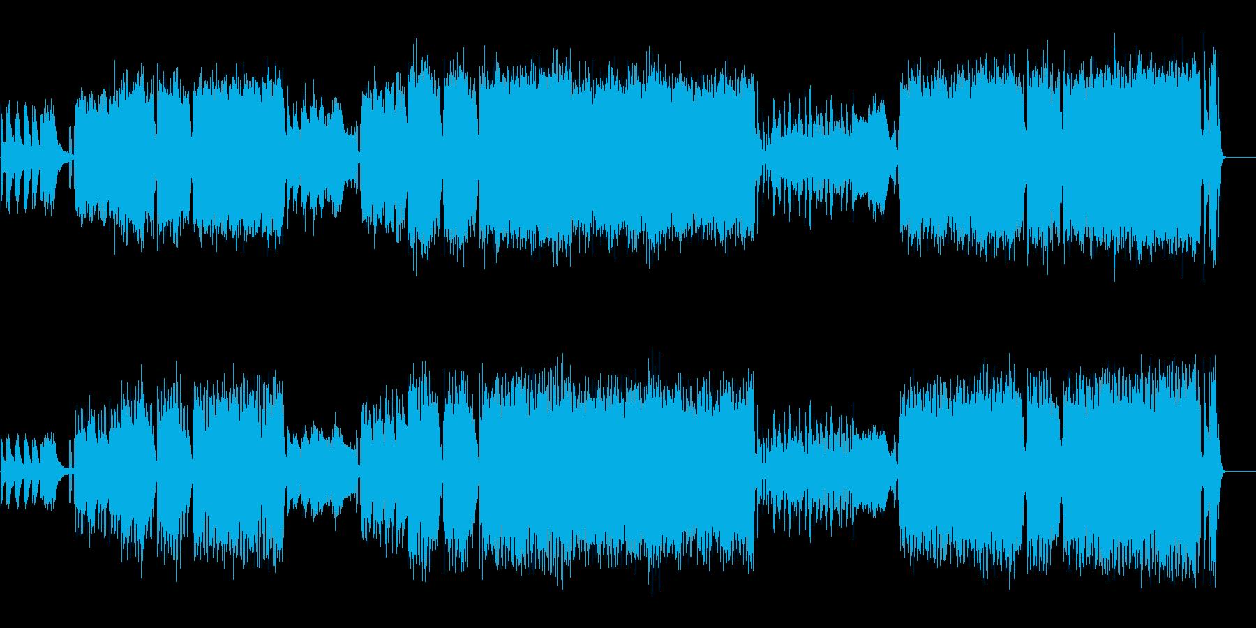 プリミティブな倍速映像対応のコミカルの再生済みの波形