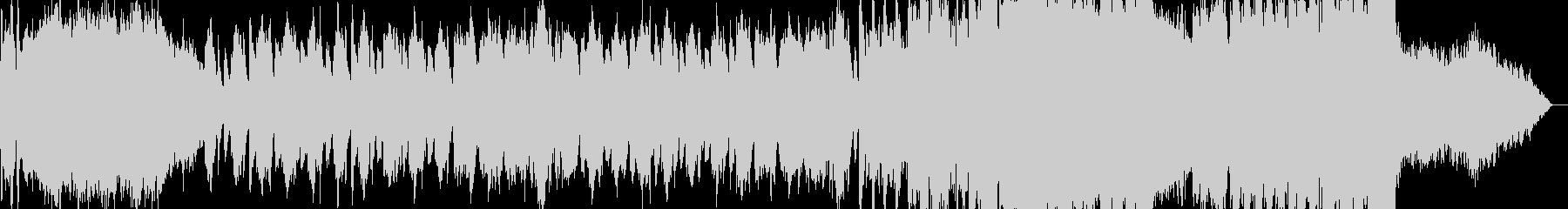 ゴシックホラー的な何かが迫り来るBGMの未再生の波形