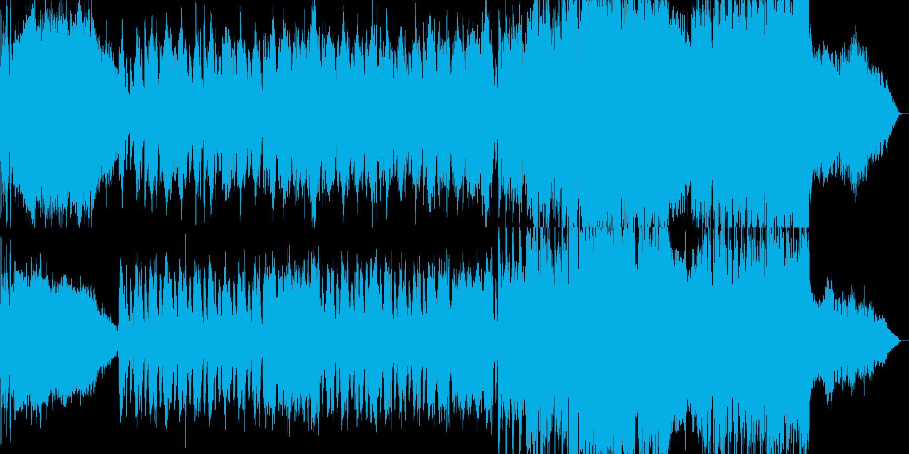 ゴシックホラー的な何かが迫り来るBGMの再生済みの波形