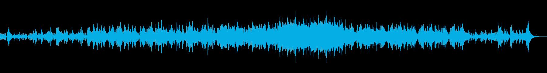 ストリングスとピアノのモダンポップスの再生済みの波形