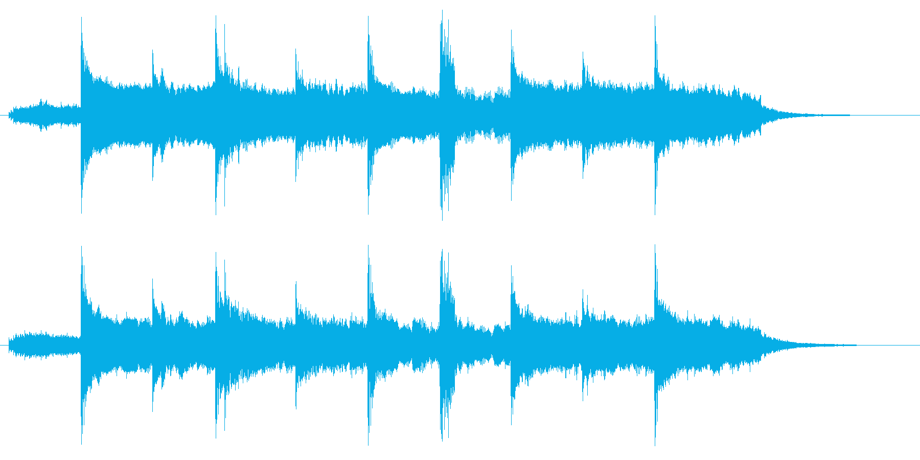 幻想的でスローテンポなリラクゼーション曲の再生済みの波形