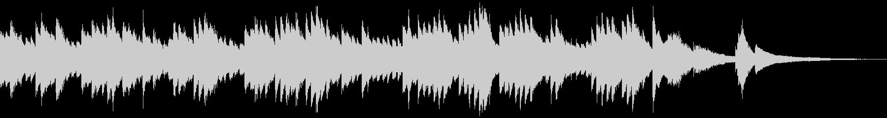 シンプルなピアノのゲームオーバーの未再生の波形
