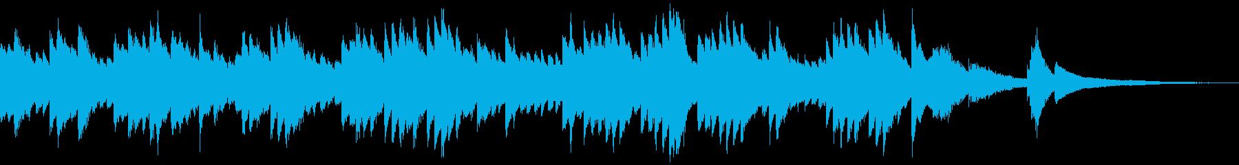 シンプルなピアノのゲームオーバーの再生済みの波形