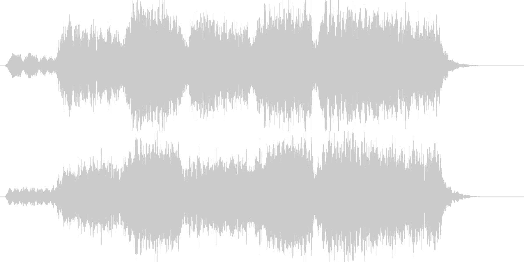 ファンファーレ・山頂の朝日の未再生の波形