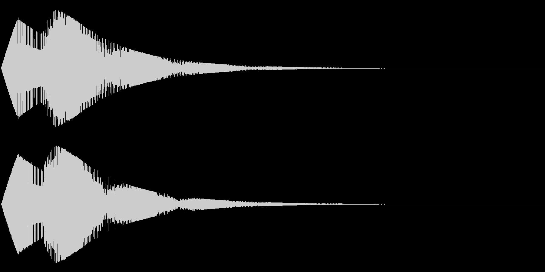 チャチャ~ン(シンセ)の未再生の波形