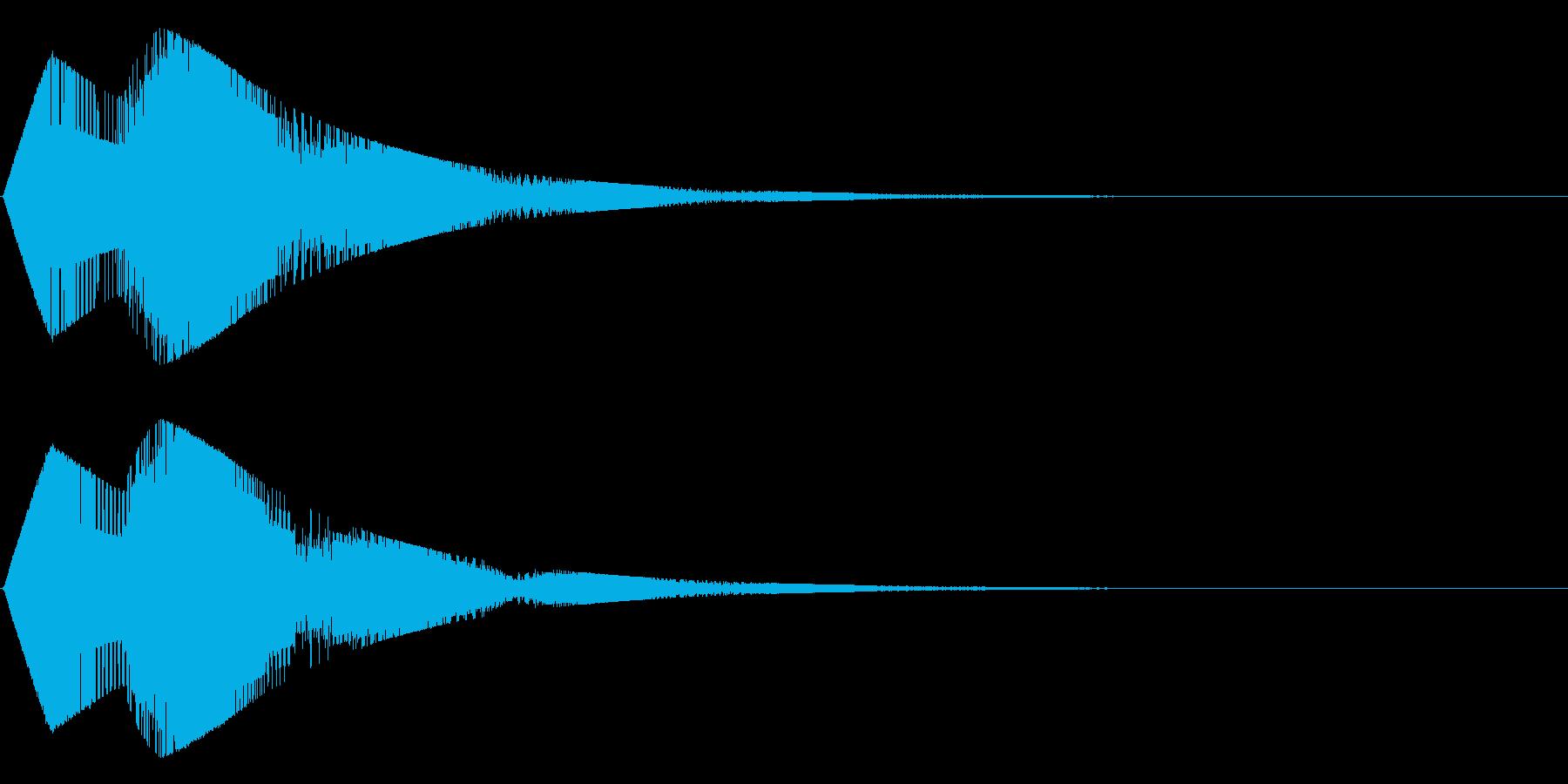 チャチャ~ン(シンセ)の再生済みの波形