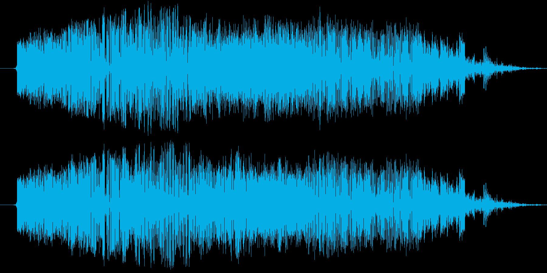 刀で斬る(時代劇風斬撃音_ズシャッ)の再生済みの波形