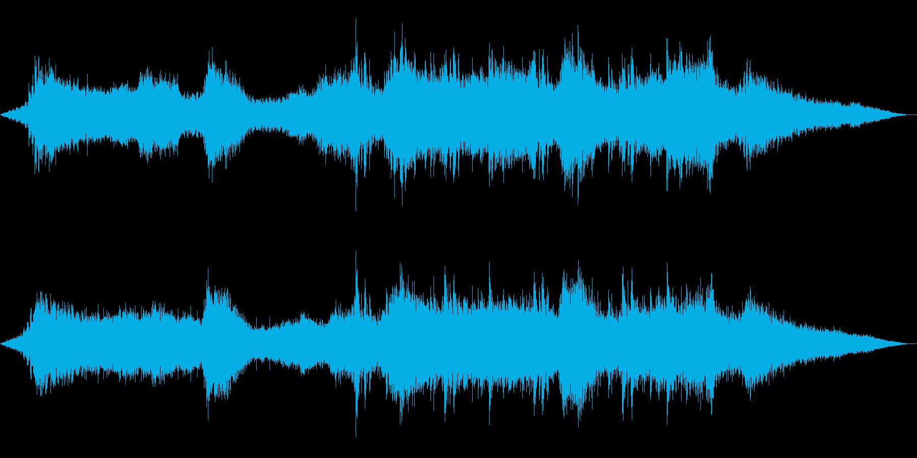 ホラー/アンビエント暗闇をイメージした曲の再生済みの波形