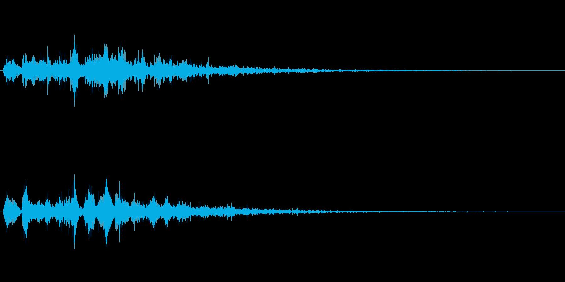 ゲーム、映像などに使える音ですの再生済みの波形