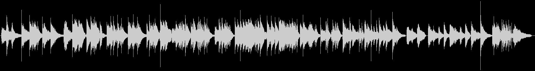 ピアノジャズボサノバBGMの未再生の波形