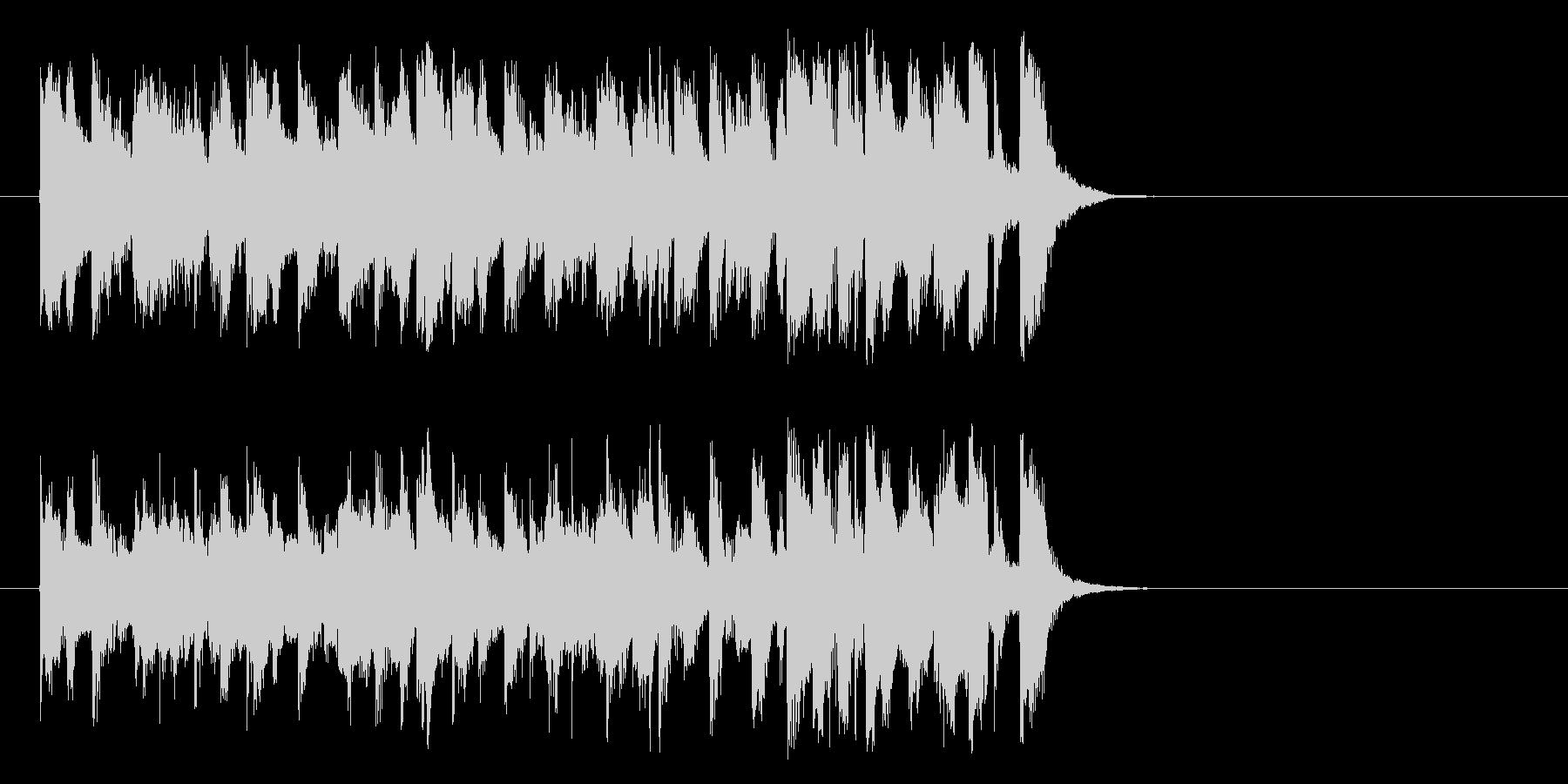 悪さする様なポップ(イントロ)の未再生の波形