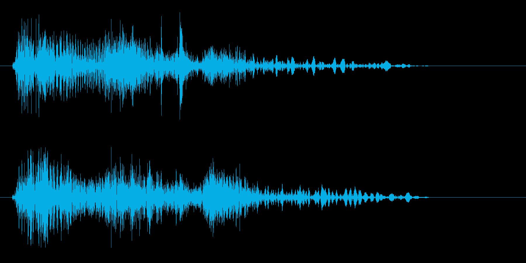 ビュヨン(弾のようなものが発射される音)の再生済みの波形