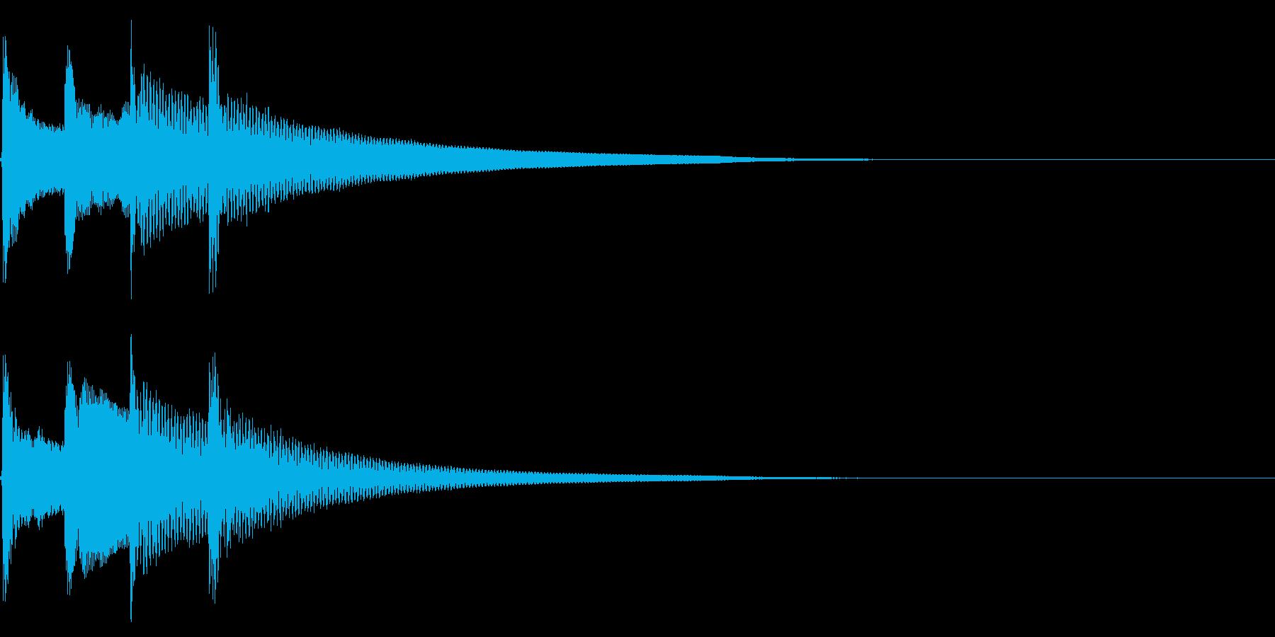 ウクレレの暖かい音色_ジングルの再生済みの波形