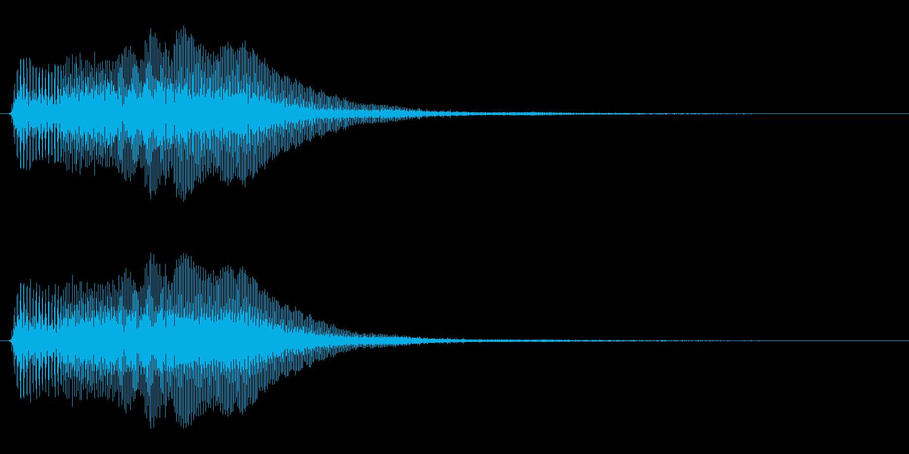 アプリ・ゲームの決定音_001の再生済みの波形