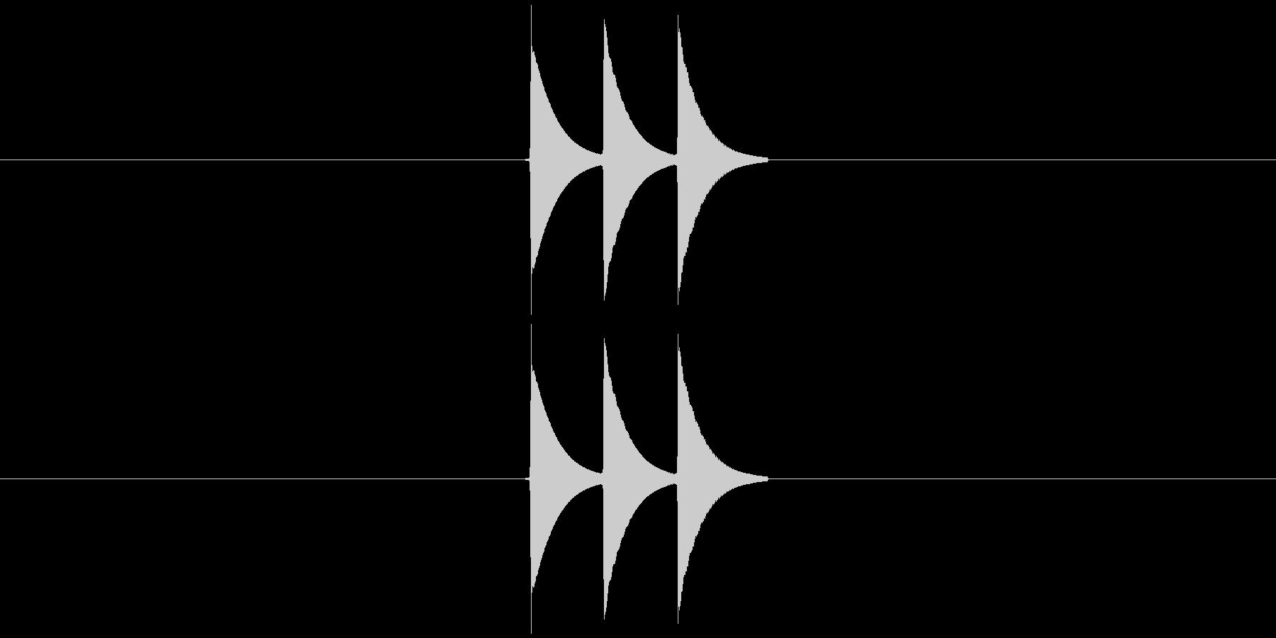 「タラランッ」キャンセル音・エラー音・…の未再生の波形