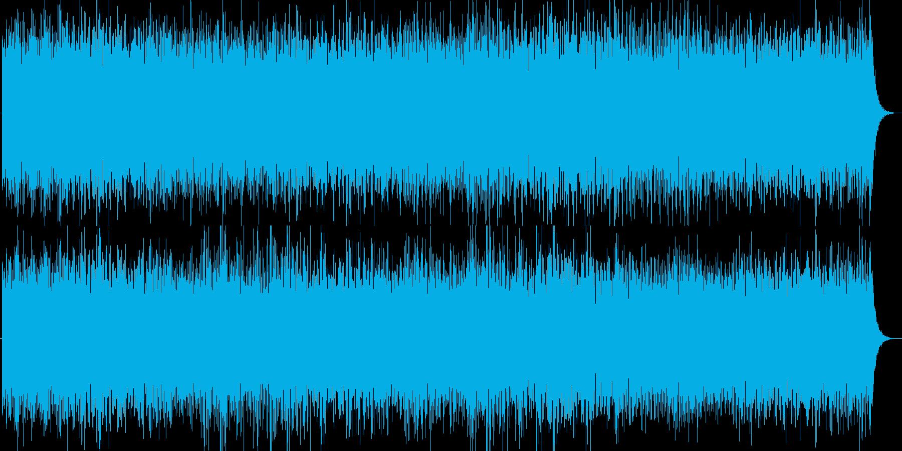 ゆったりとした洋のイメージの曲の再生済みの波形