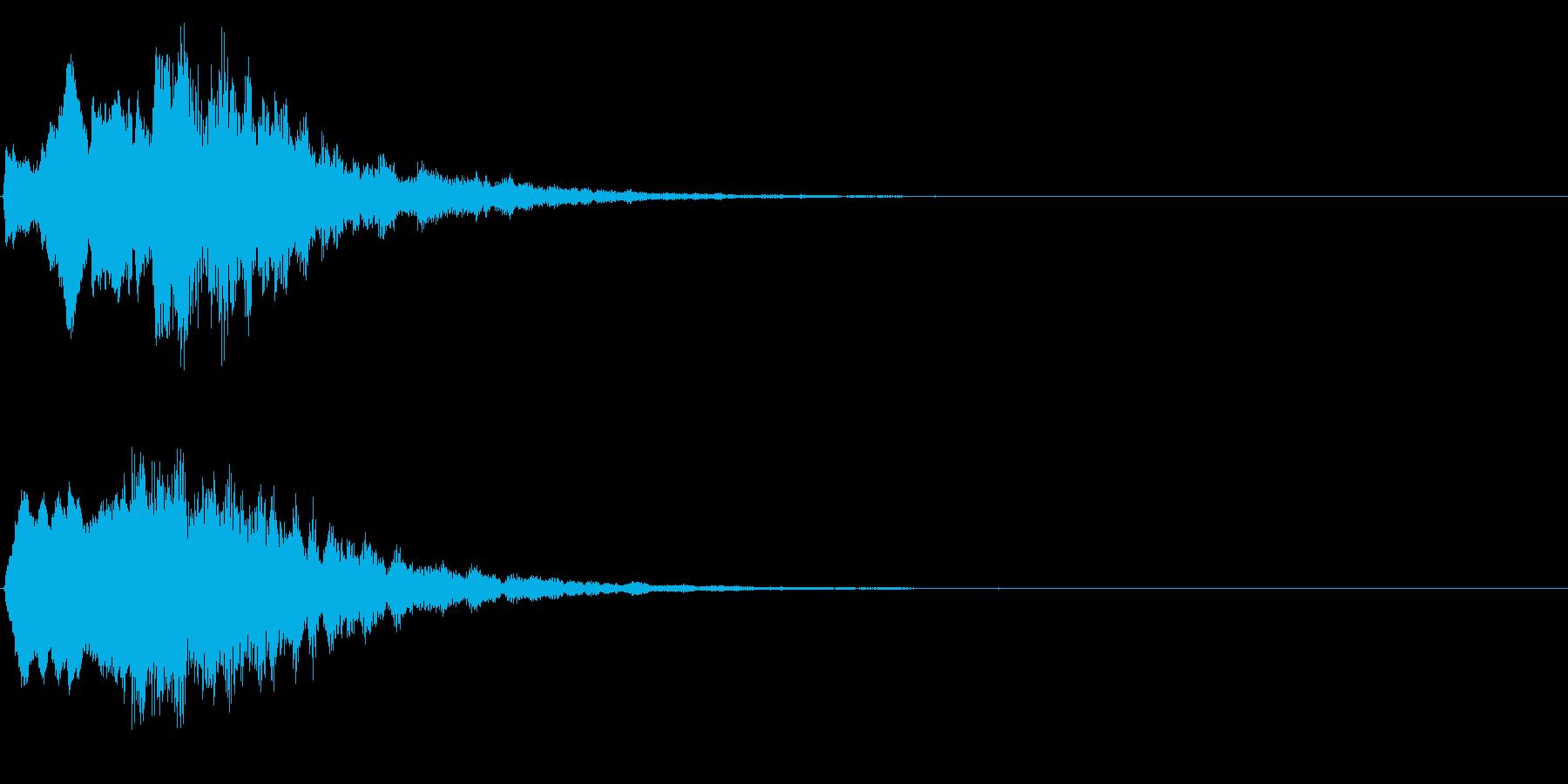 ゲームスタート、決定、ボタン音-090の再生済みの波形