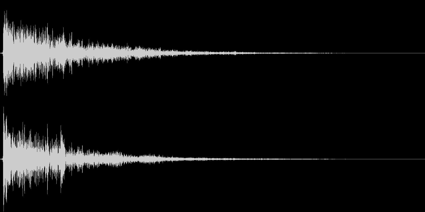恐怖音4の未再生の波形