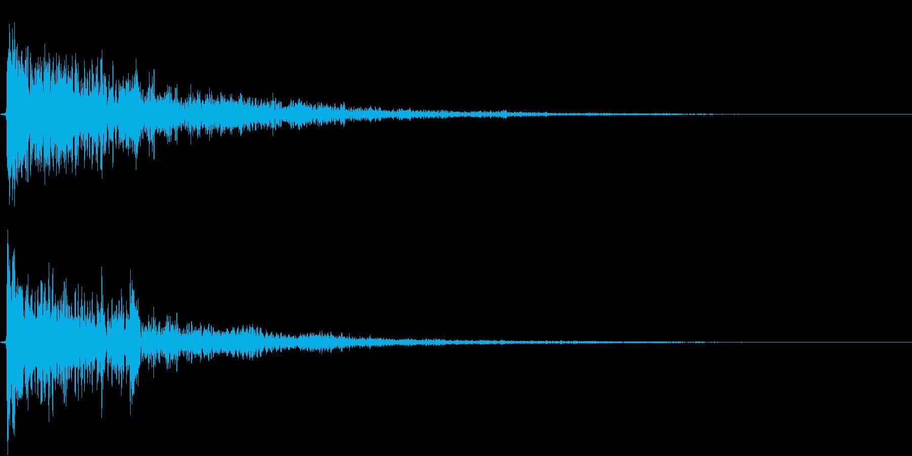 恐怖音4の再生済みの波形