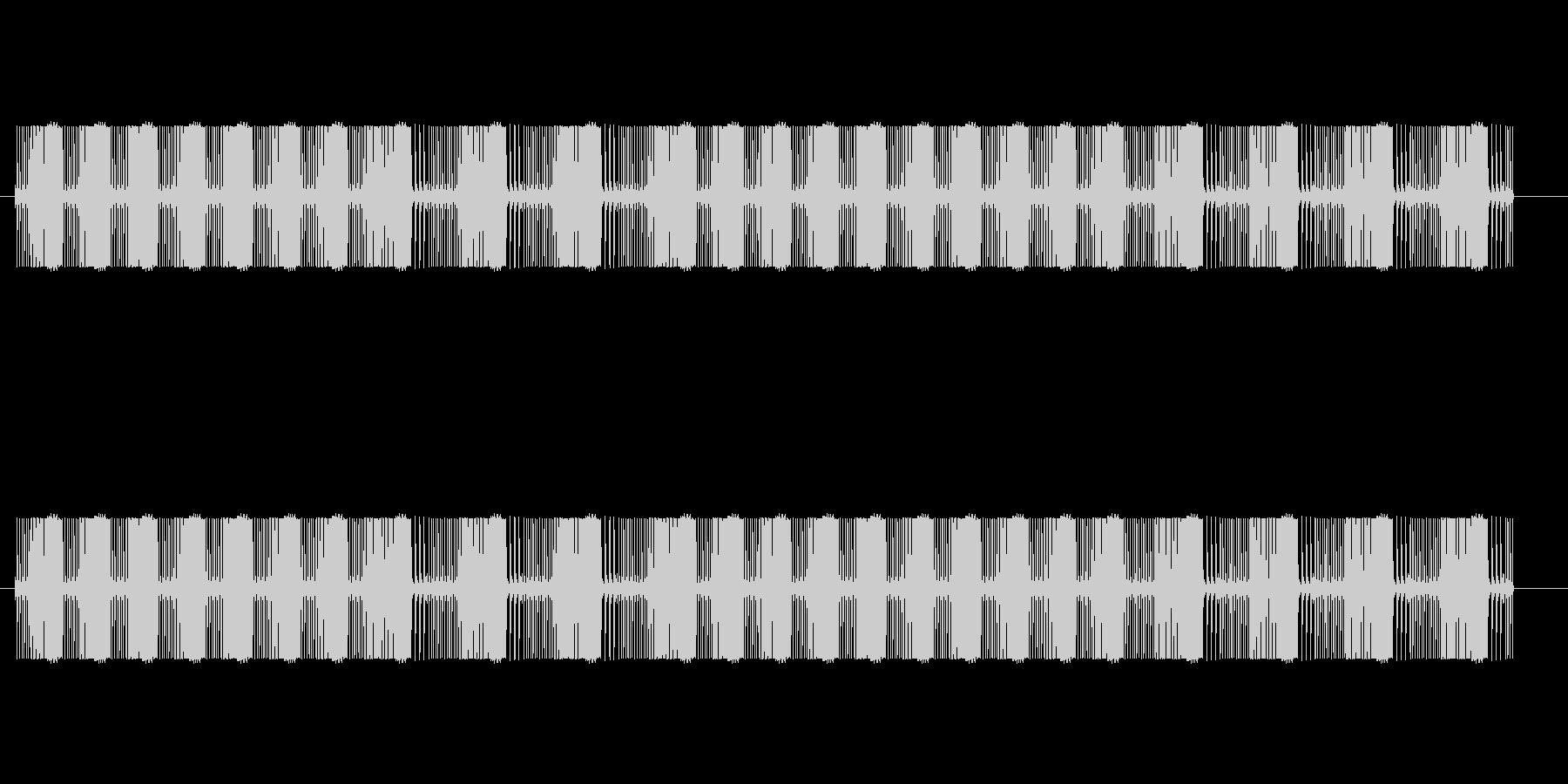 ビームを撃つ音(ビビビビ、ビュビュビュ)の未再生の波形