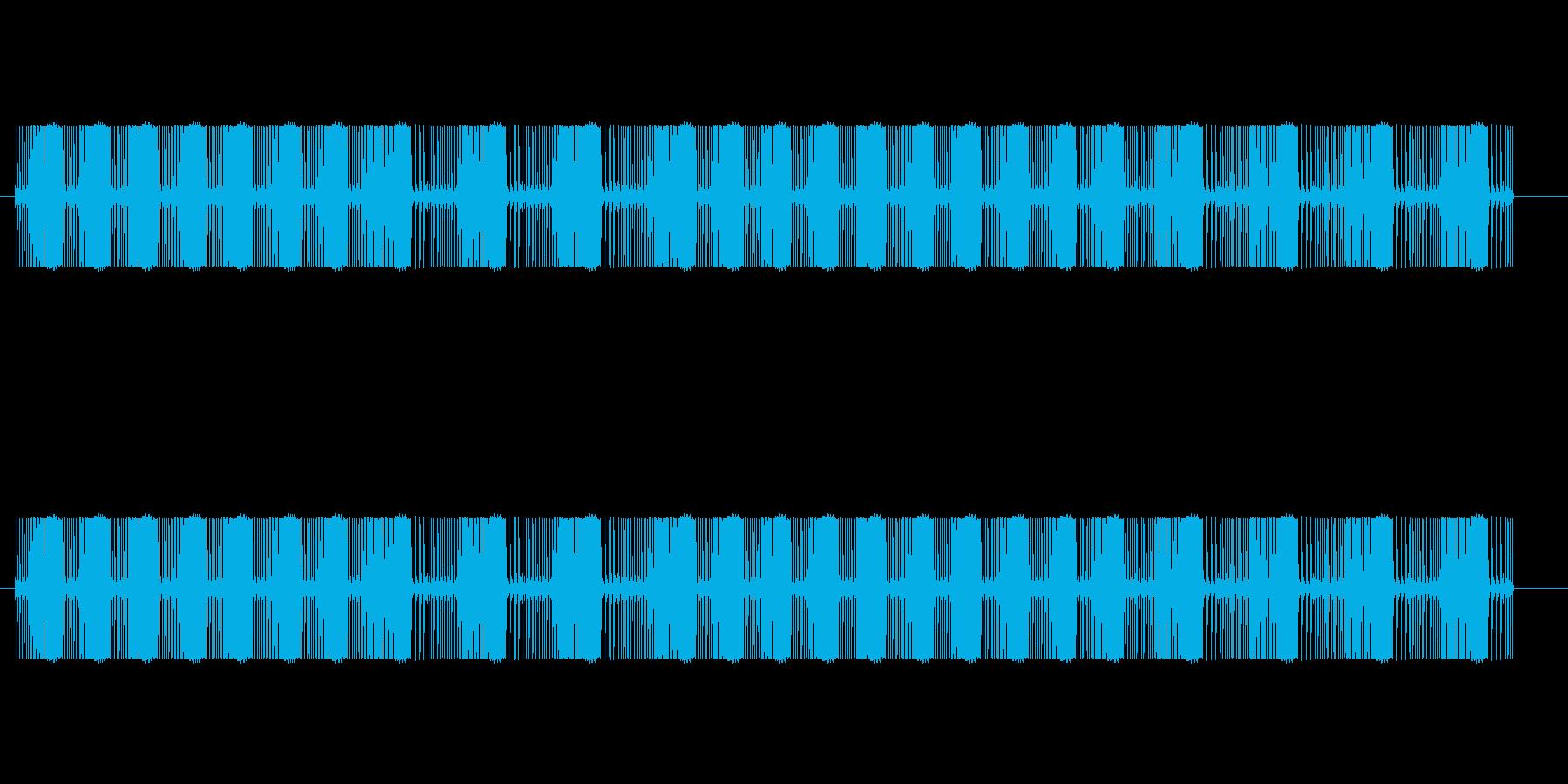 ビームを撃つ音(ビビビビ、ビュビュビュ)の再生済みの波形