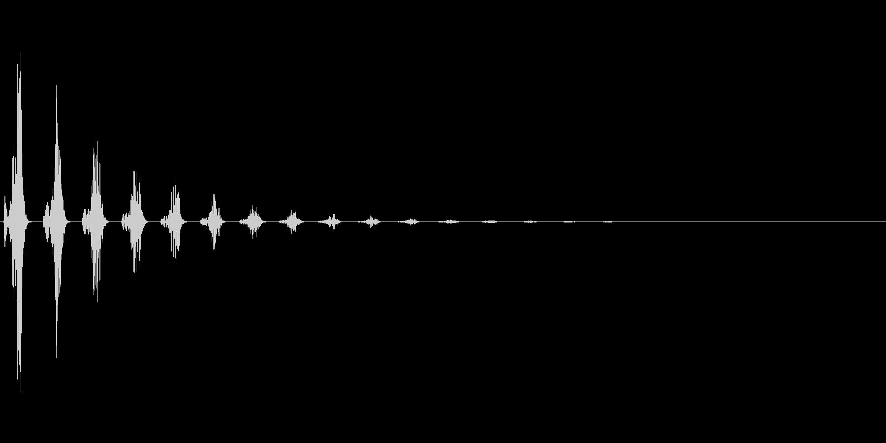 フワンフワン:想像するときの効果音ですの未再生の波形